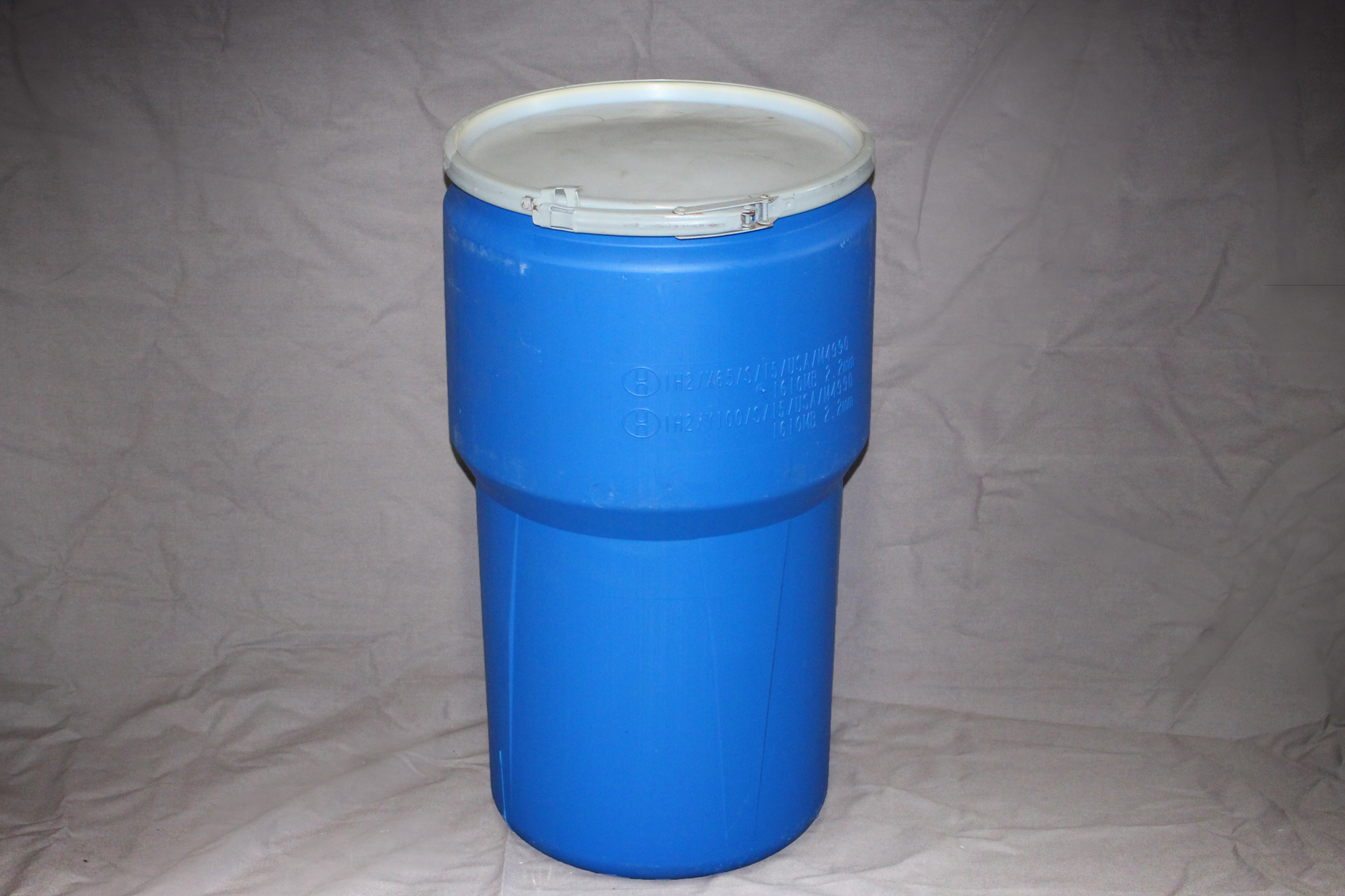 15 Gallon Open Top Blue Tapered Poly Hdpe Drum Reconditioned