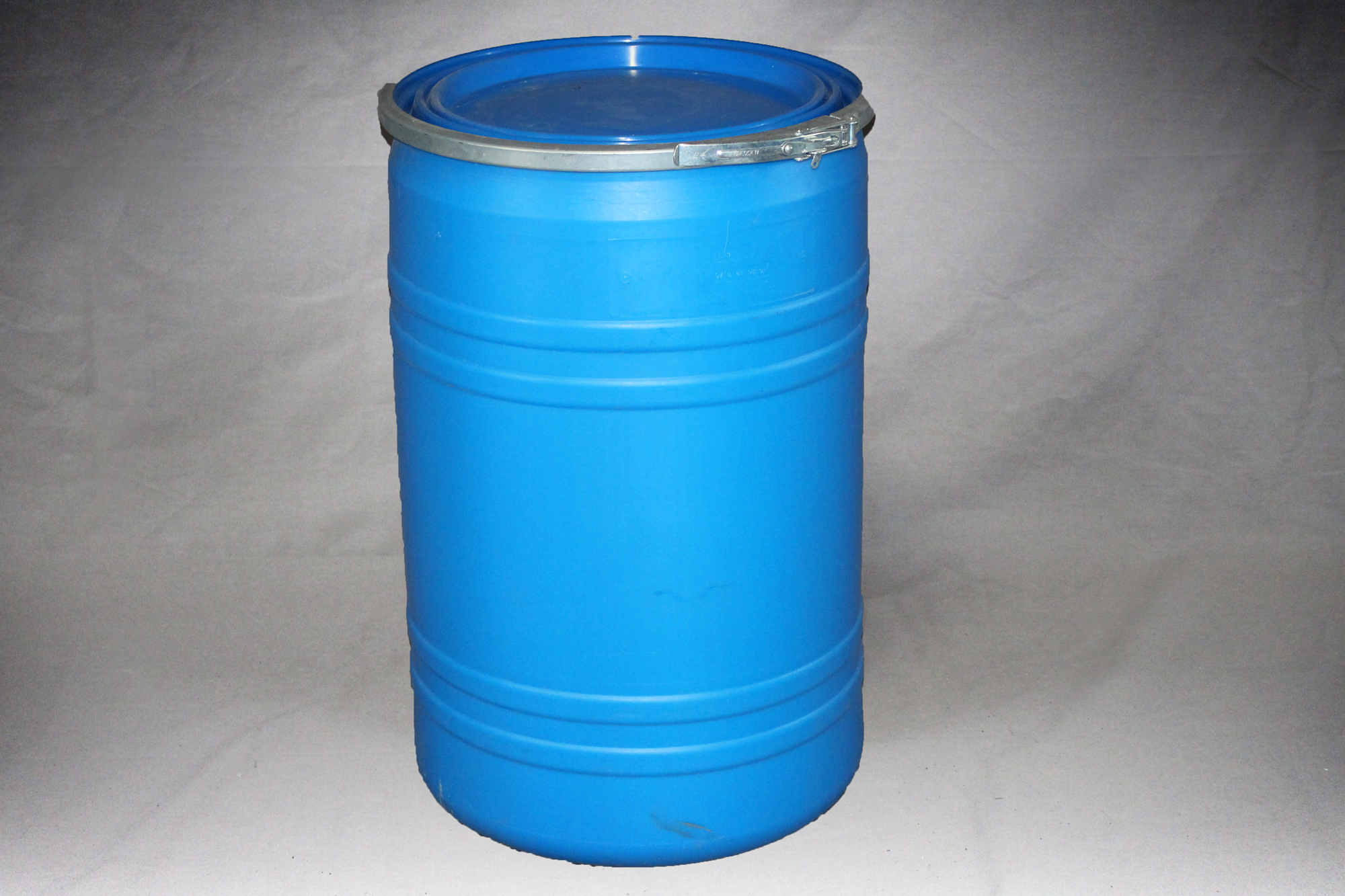 30 Gallon Open Top Blue Straight Side Poly Hdpe Drum Reconditioned