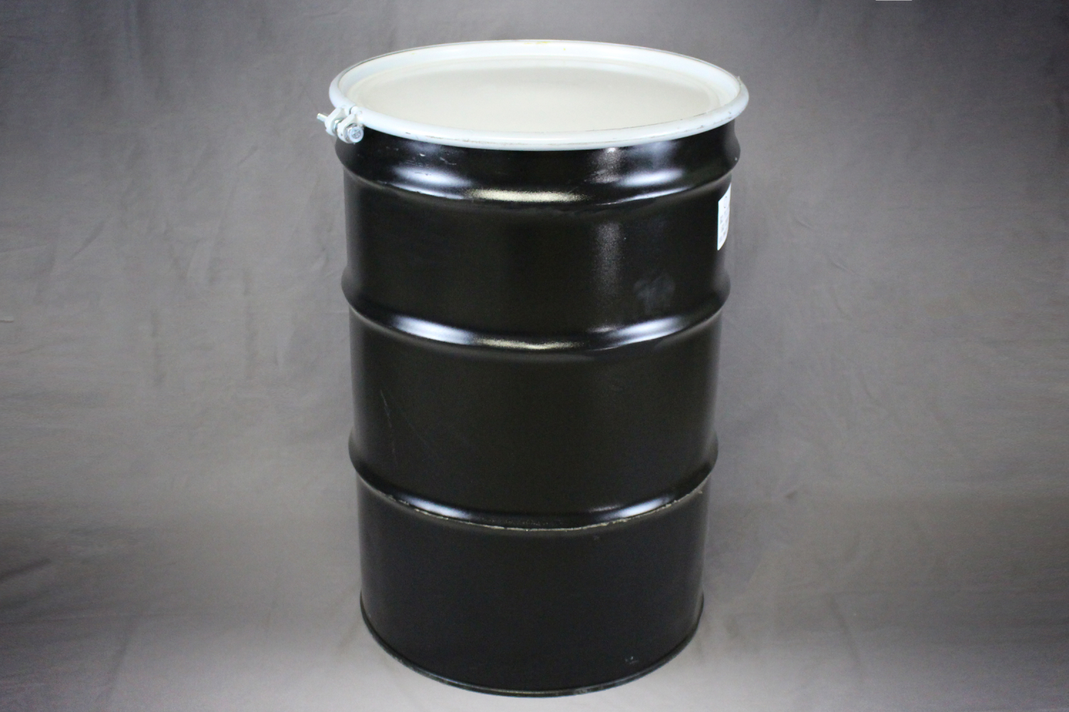 55 gallon open top steel drum reconditioned b stephen for Metal 55 gallon drum