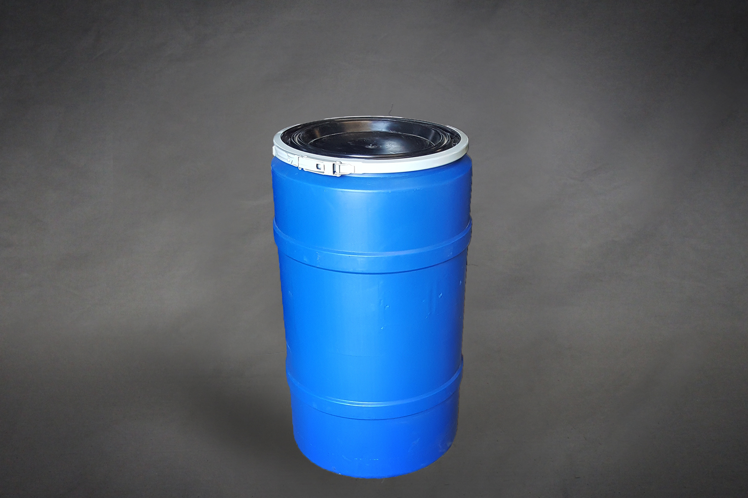 30 gallon open top blue poly hdpe drum new b stephen cooperage